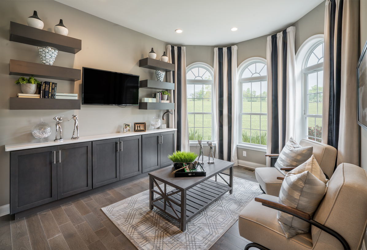 First-floor flex space for living room or office