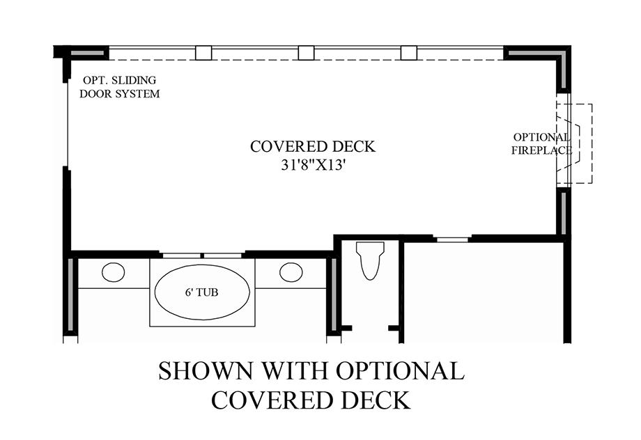 Optional Covered Deck Floor Plan