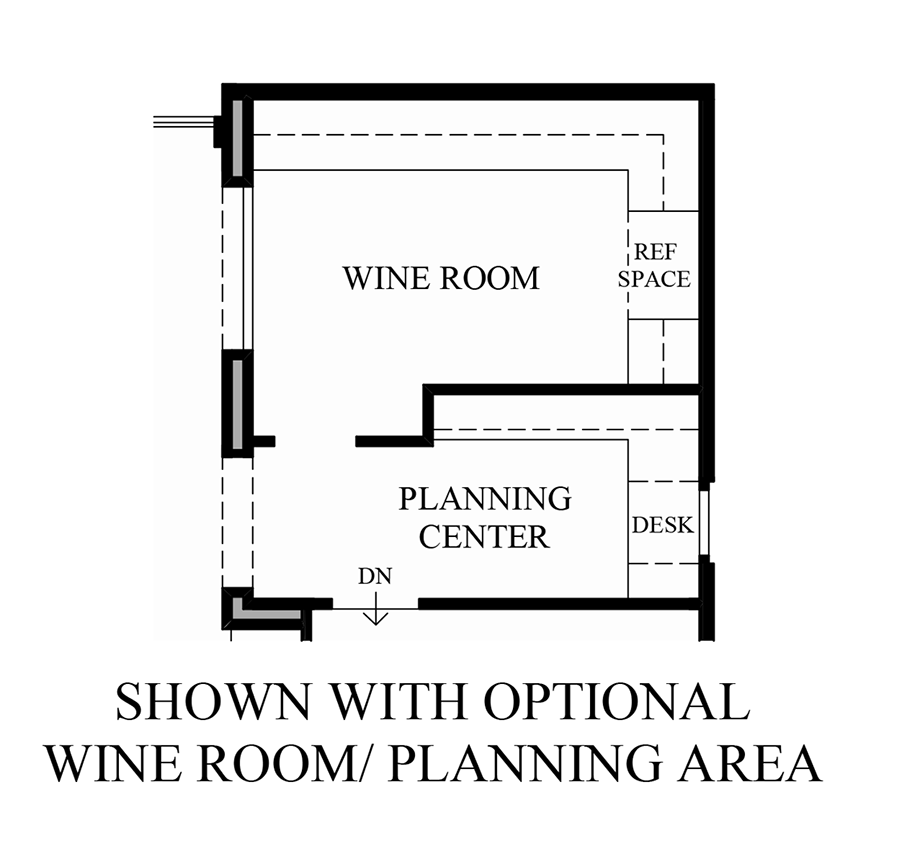 Optional Wine Room/Planning Area Floor Plan