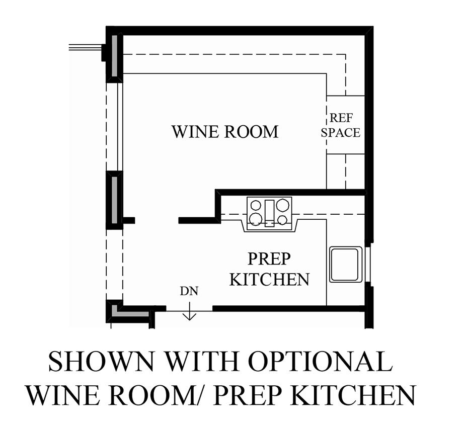 Optional Wine Room/Expanded Kitchen Floor Plan