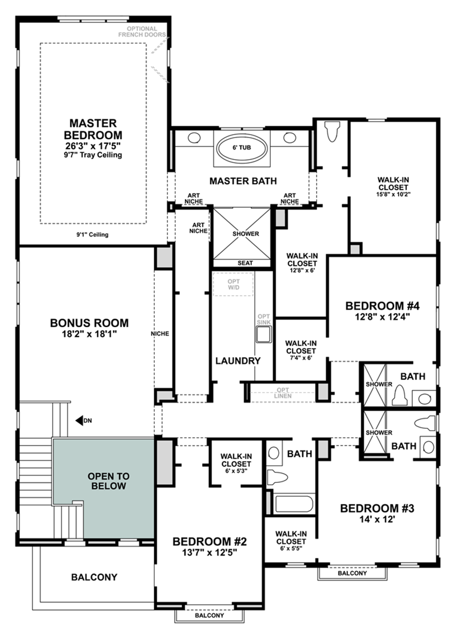 Ashbury at alamo creek quick delivery home deerwood for Spanish colonial floor plans
