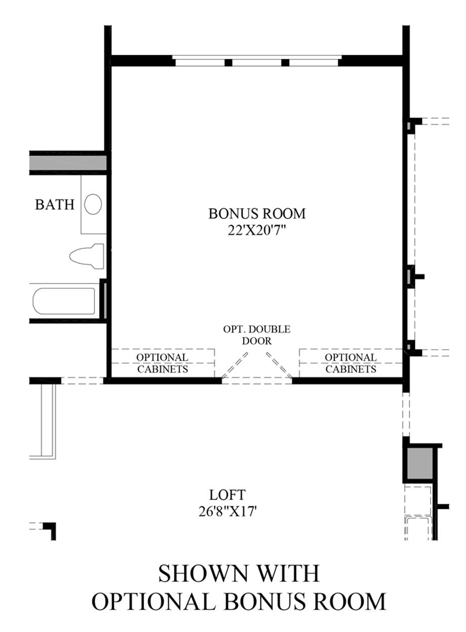 Optional Bonus Room Floor Plan