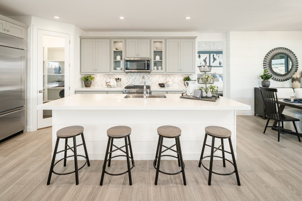 Beautiful kitchen with stainless steel appliances and large island