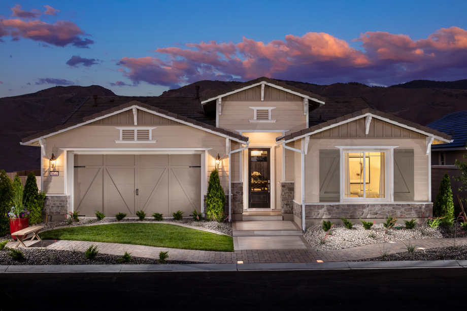 Regency at damonte ranch tamarack collection the for Ranch house elevations