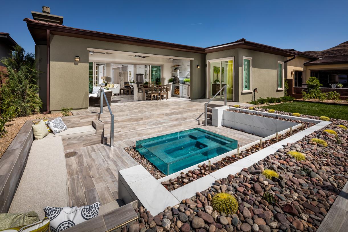 Gorgeous backyard with spa area