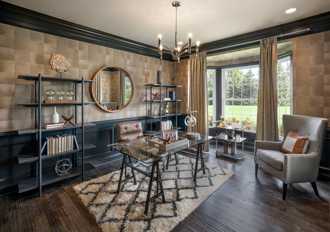 First-floor flex space perfect for home office