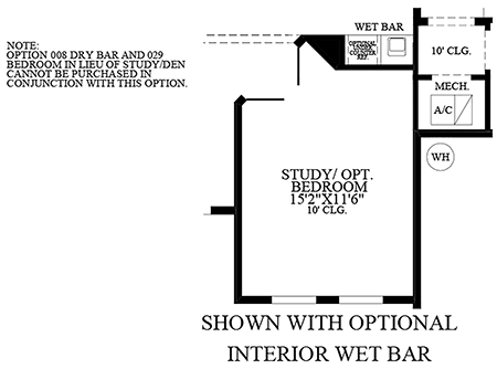 Optional Interior Wet Bar