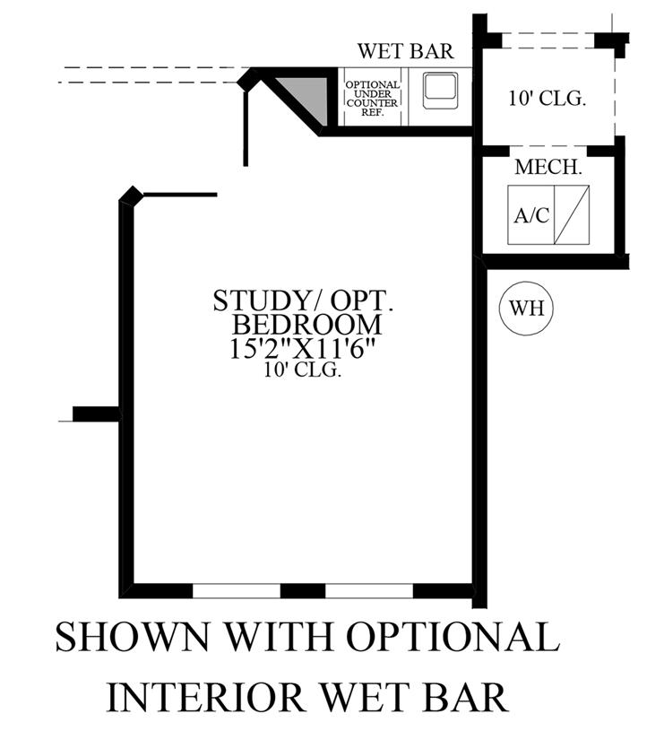 Julington Lakes - Optional Interior Wet Bar