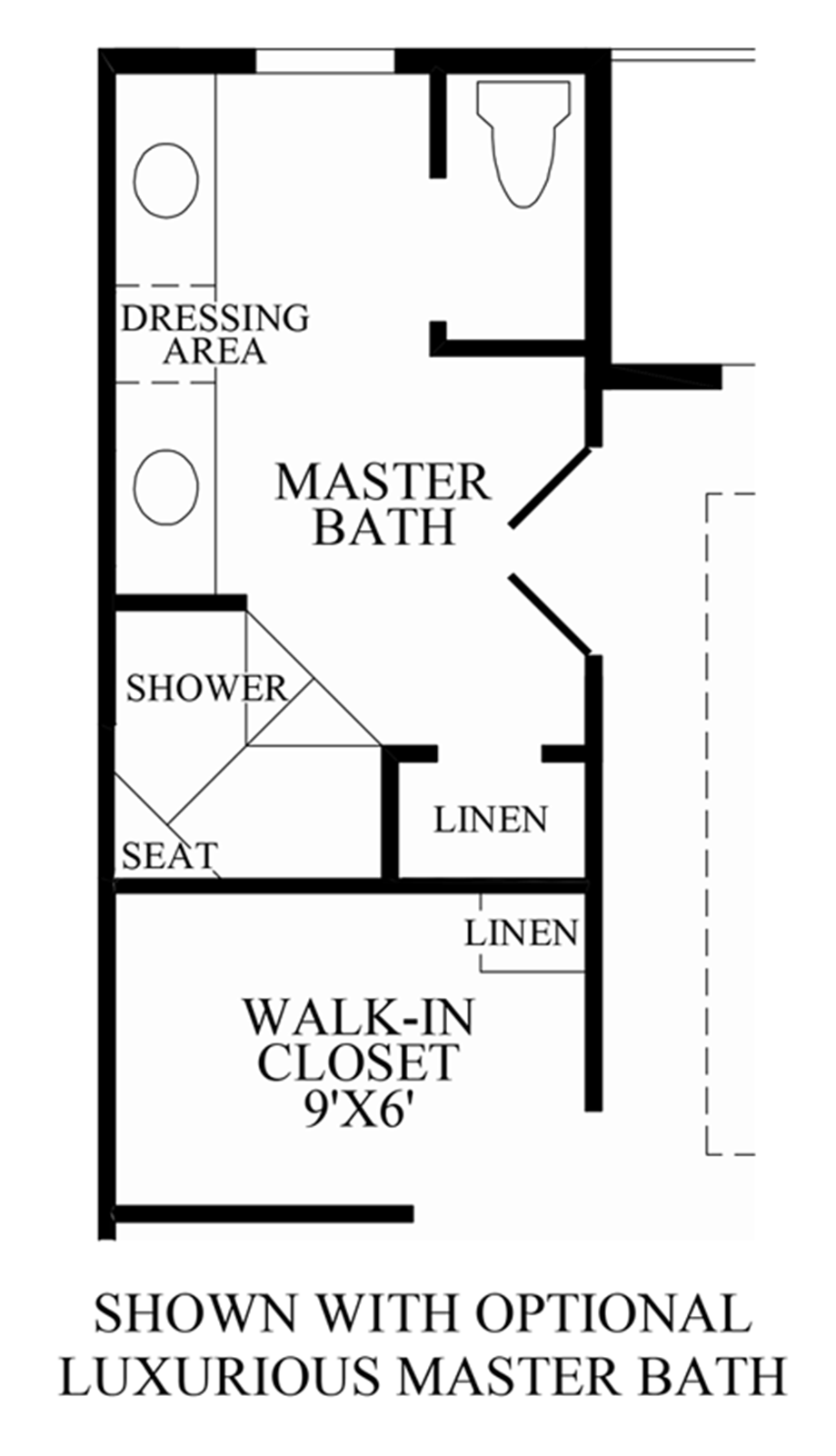 Loudoun valley the buckingham the denham home design for Master bath floor plans