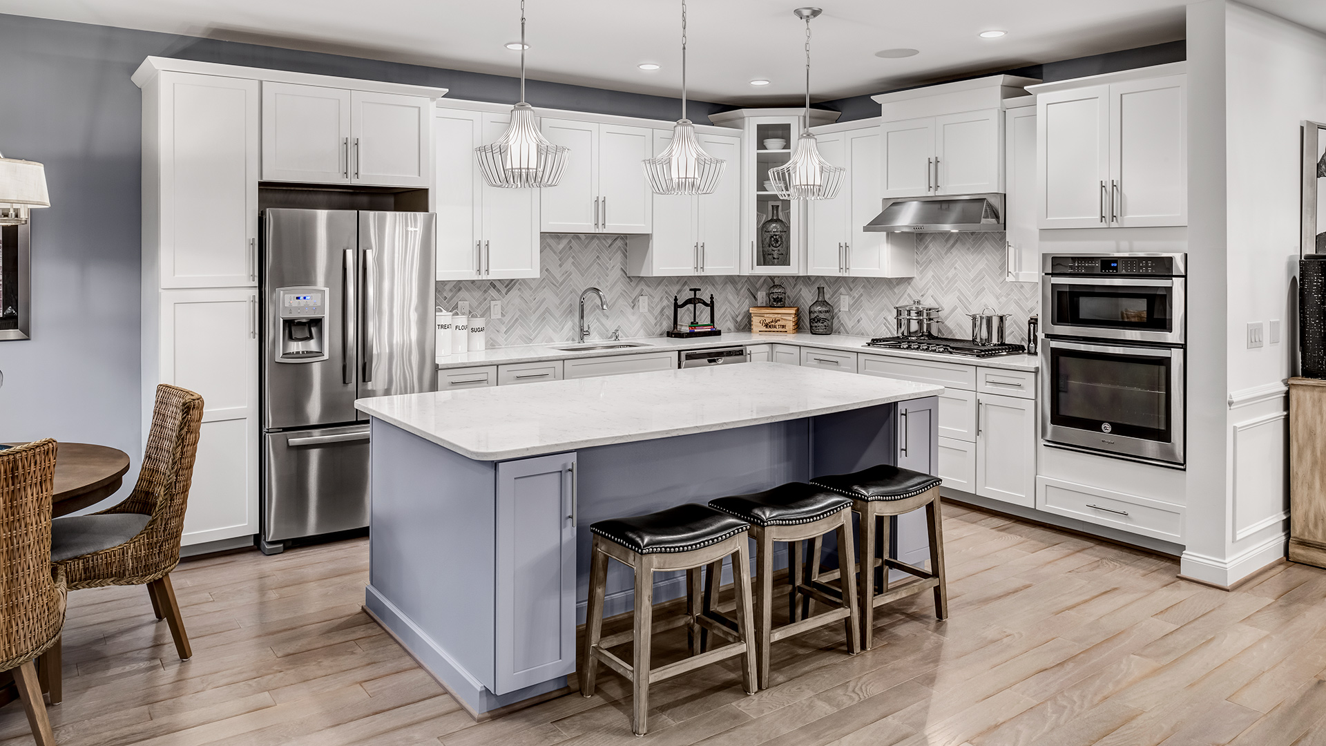 Gourmet kitchen with center island perfect for entertaining