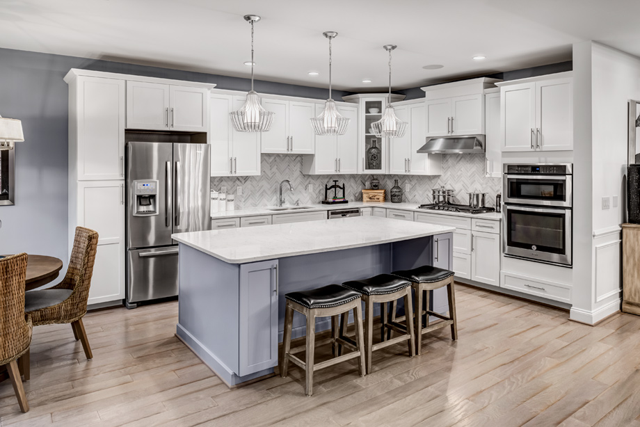 Gorgeous gourmet kitchen with large center island