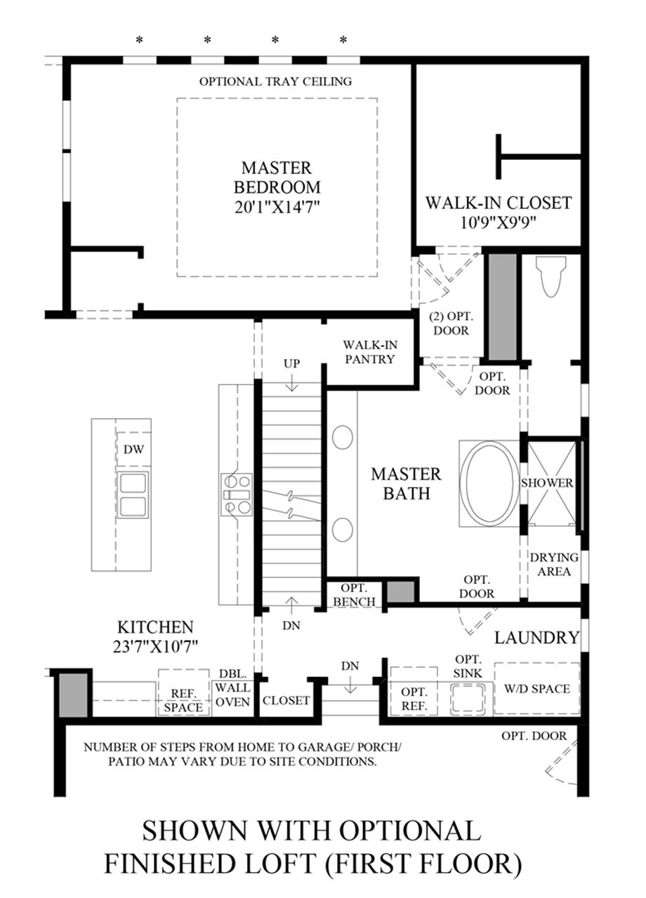 Optional Finished Loft (1st Floor) Floor Plan