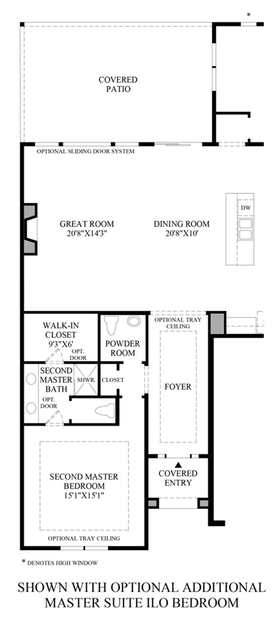 Optional Additional Master Suite ILO Bedroom Floor Plan