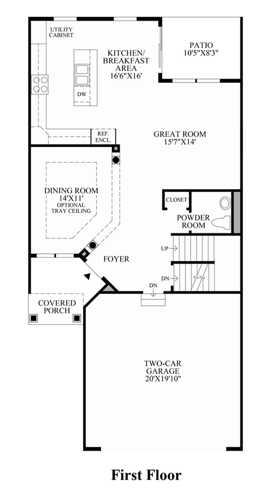 1st floor floor plan for Create your own kitchen floor plan