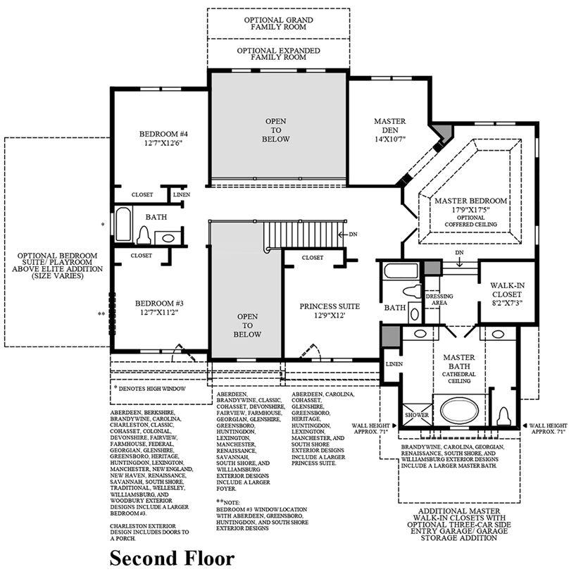 Colonial heritage williamsburg floor plans for Best selling small house plans