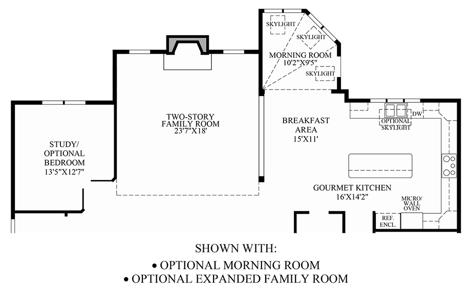 Optional Morning Room & Expanded Family Room Floor Plan