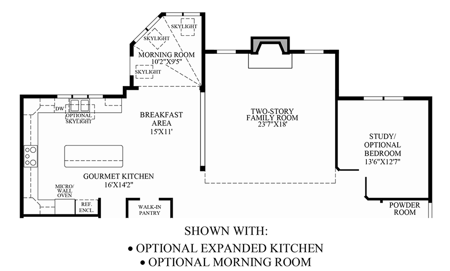 Optional Expanded Kitchen/Optional Morning Room Floor Plan