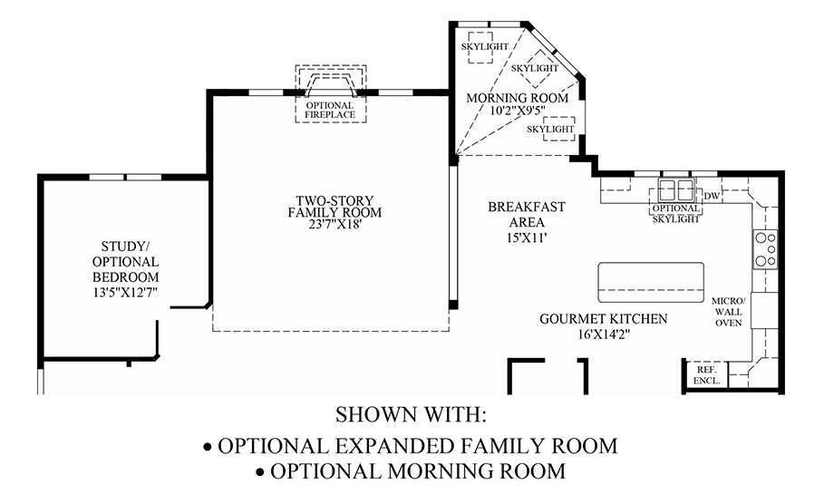 Optional Expanded Family Room/Morning Room Floor Plan