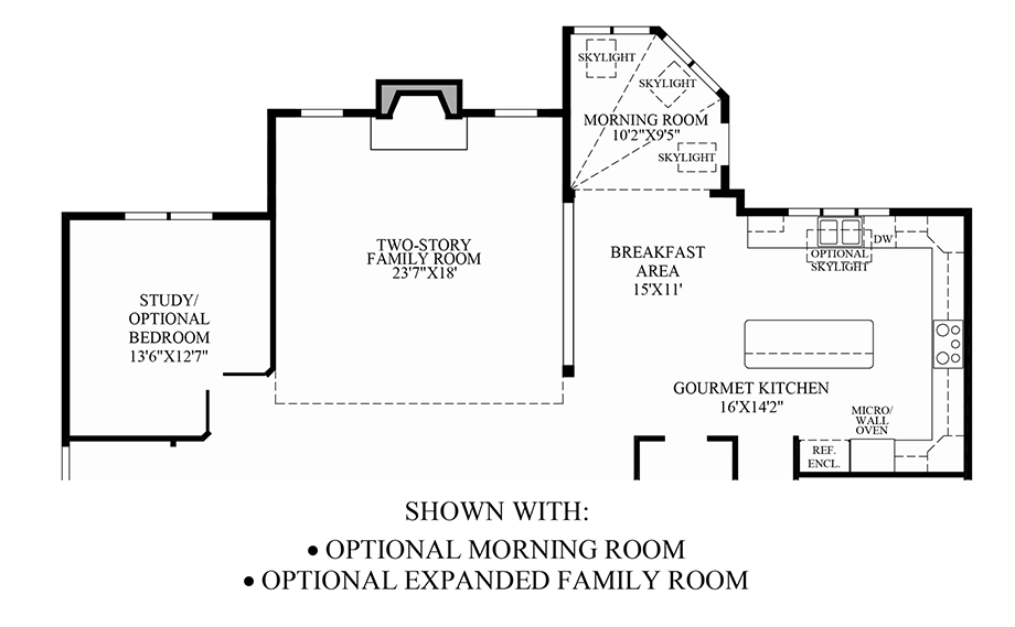 Optional Morning Room/Expanded Family Room Floor Plan
