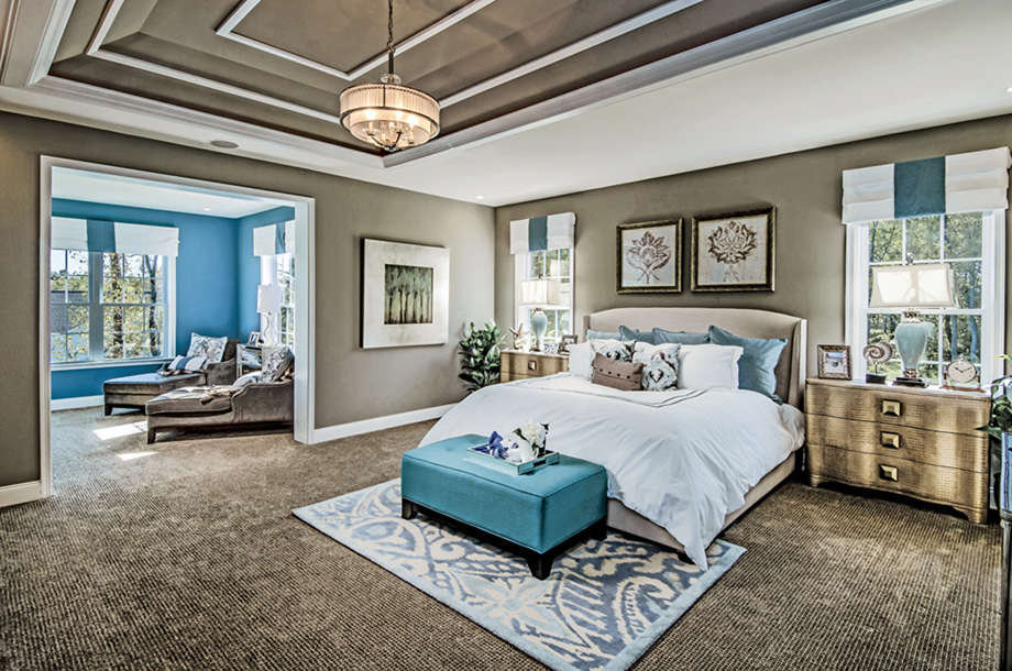 Dominion valley country club executives the duke home for Model home master bedrooms