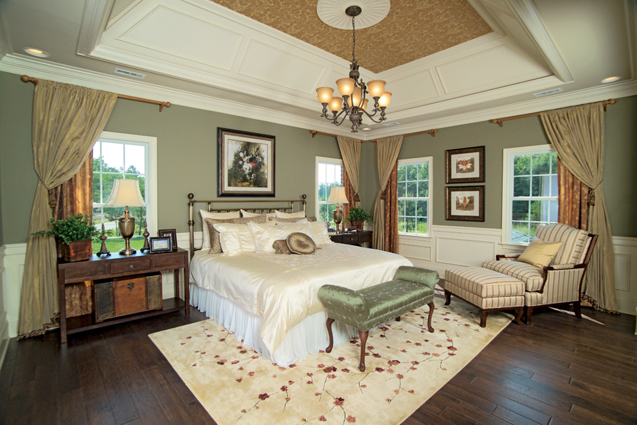 The hills at southpoint the duke home design Model home master bedroom decor