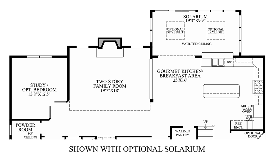 Optional Solarium Floor Plan