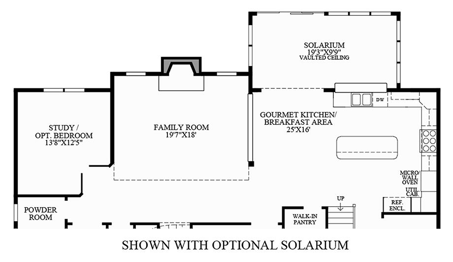 Optional Solarium Floor Plan