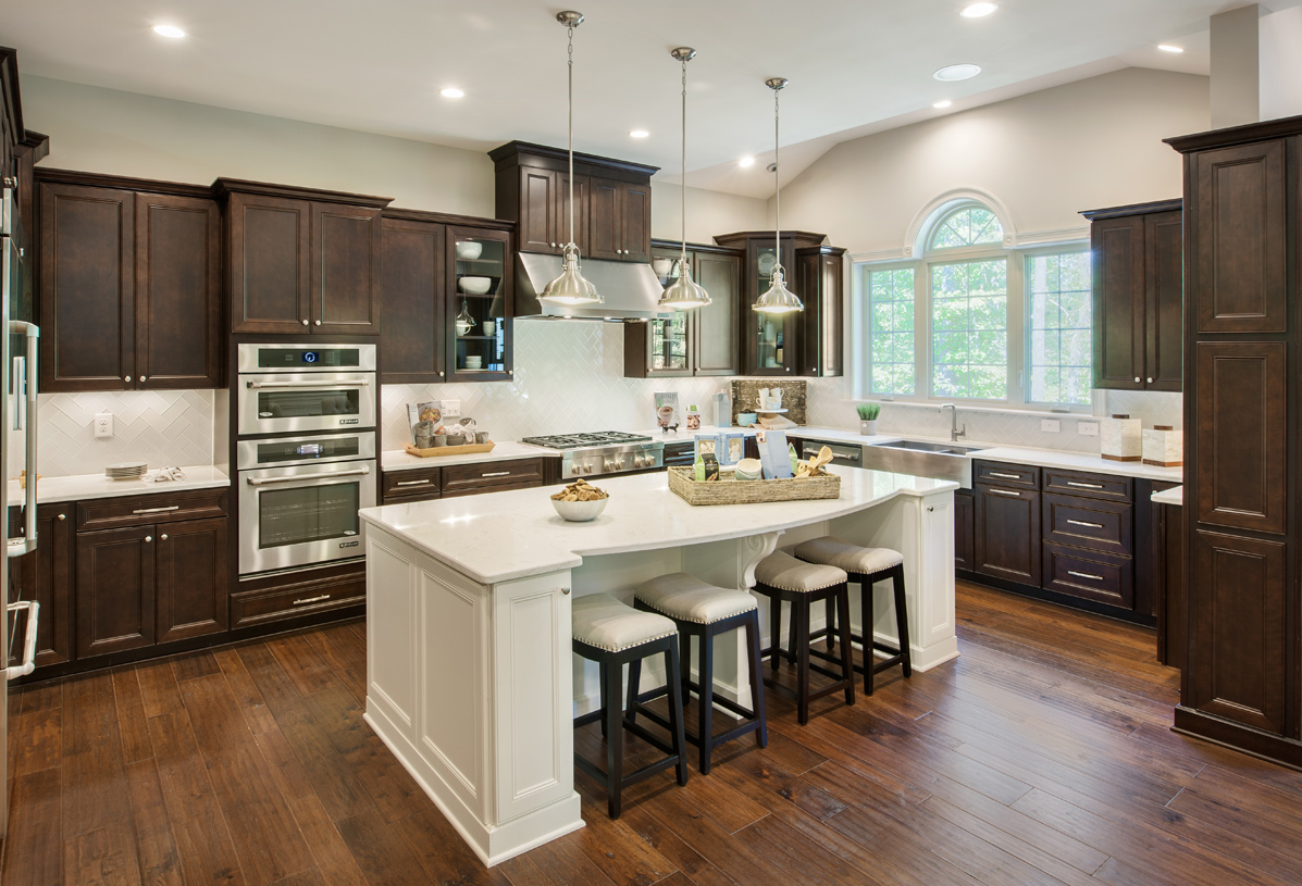 Gorgeous gourmet kitchen shown with expanded Palladian option
