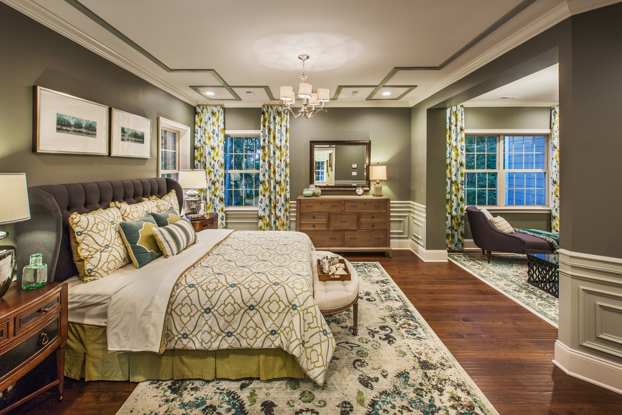 Luxurious primary bedroom suite with private retreat