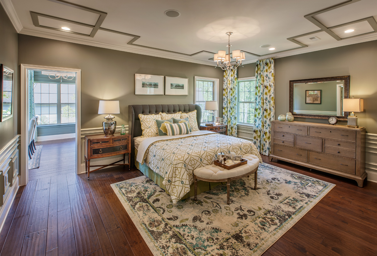 Primary bedroom suite also features two large walk-in closets
