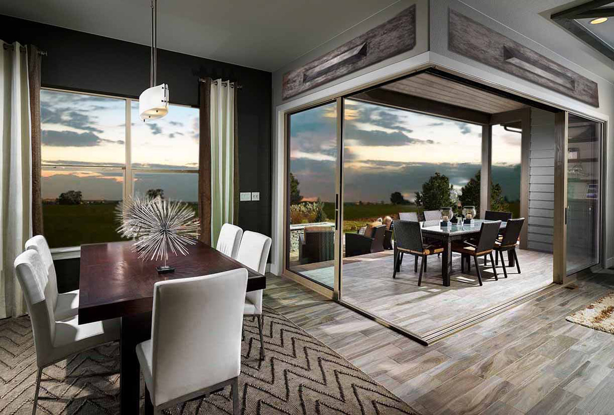 Casual dining and outdoor space