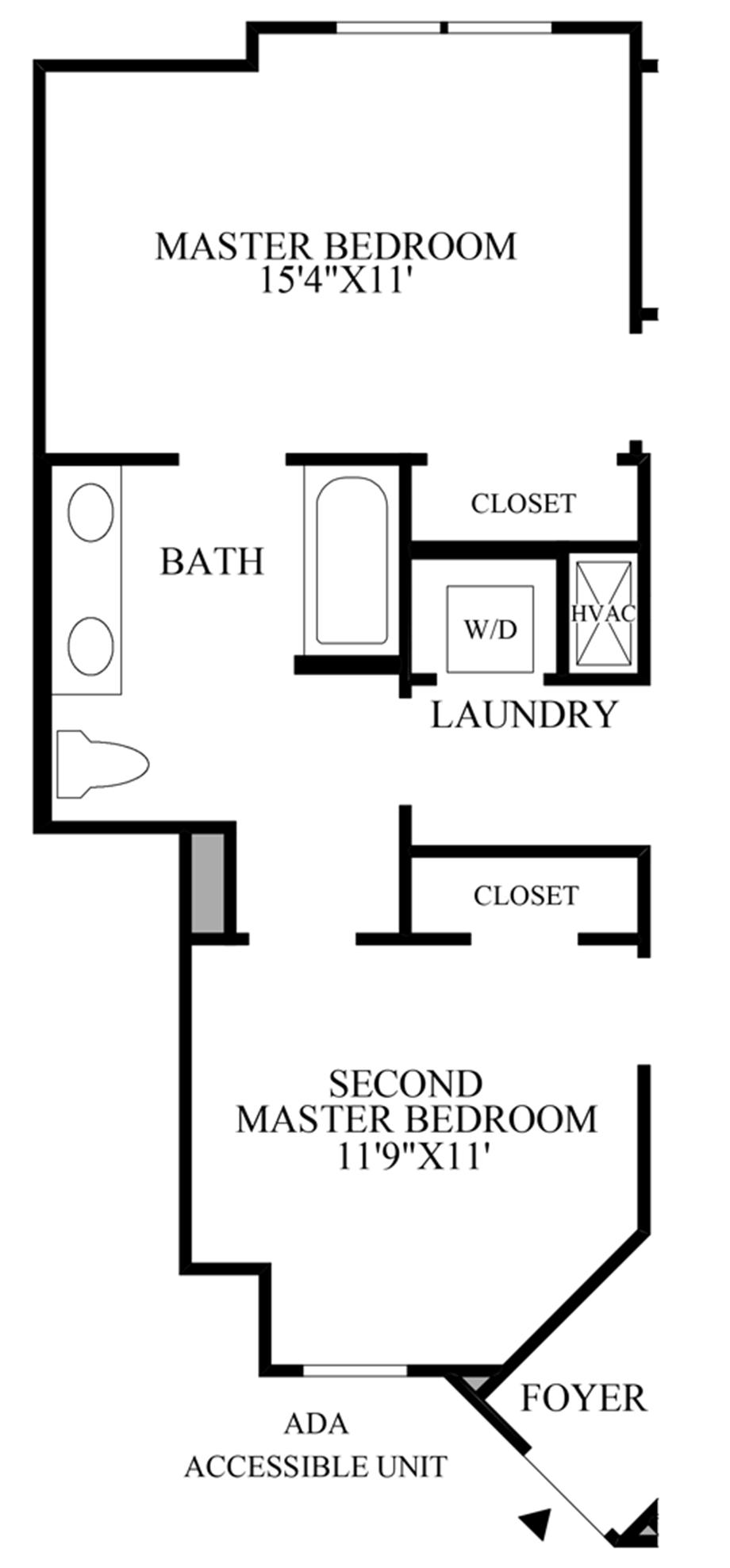 Ada Accessible Unit Floor Plan