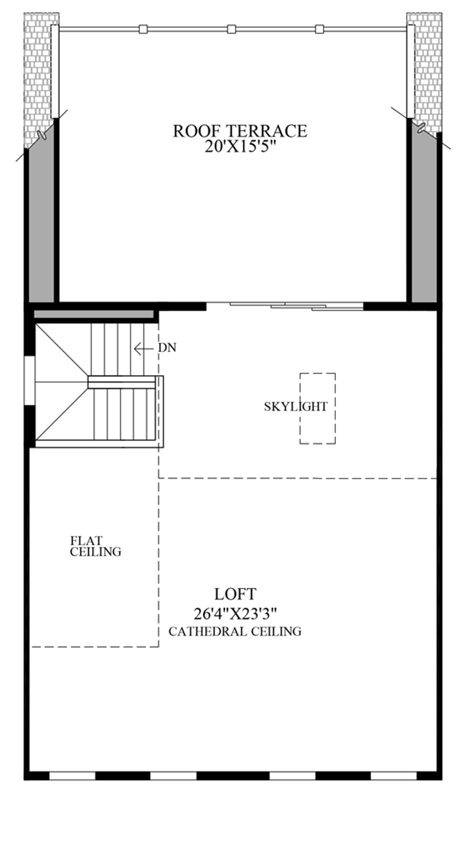 Optional Rooftop Terrace Floor Plan