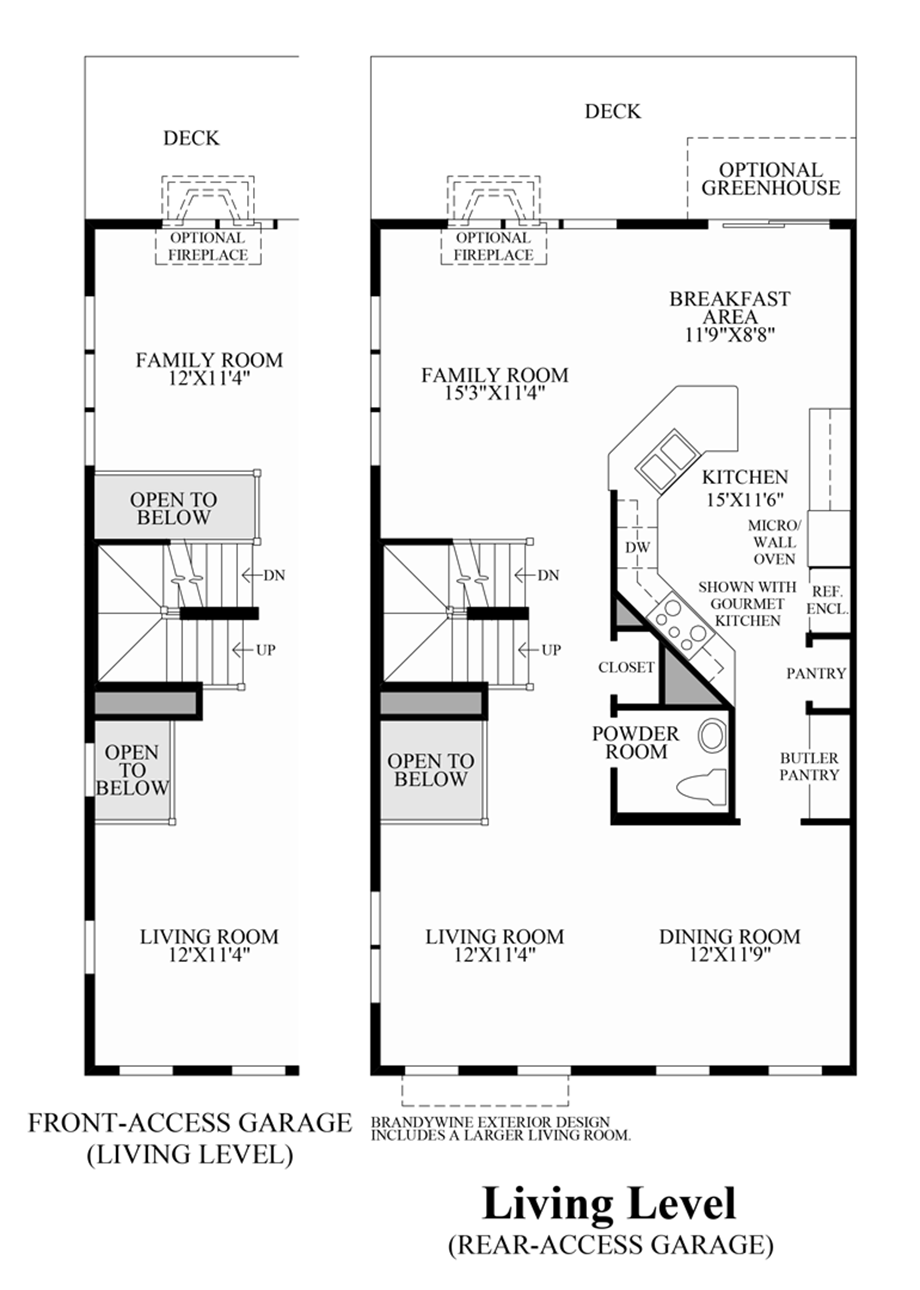 Ravenscliff At Media Townhomes The Easton Home Design