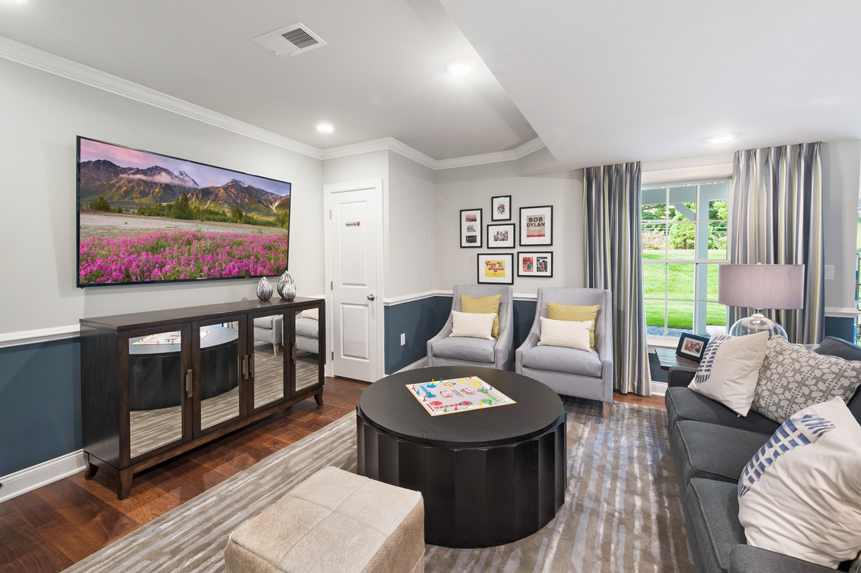 The great room is the perfect entertaining space