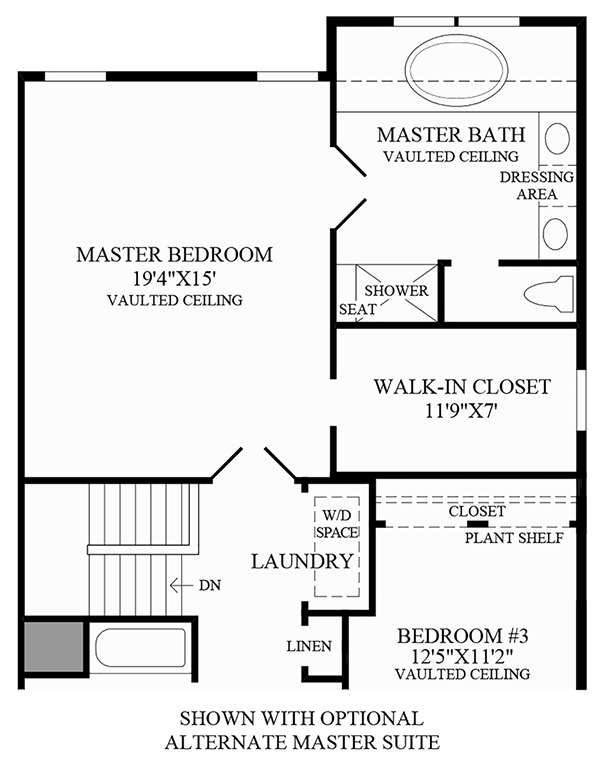 Optional Alternate Master Suite