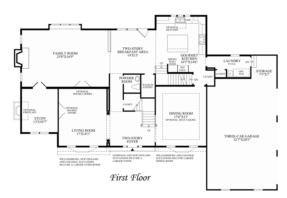 Colonial Williamsburg Floor Plans