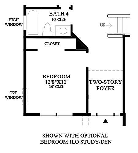 Optional Bedroom ILO Study