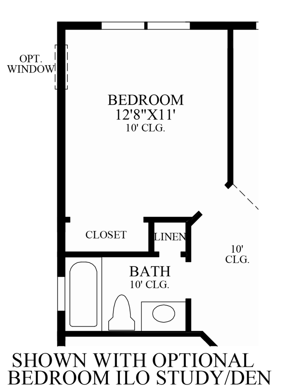 Optional Bedroom ILO Study/Den Floor Plan