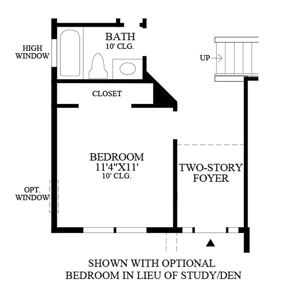 Optional Bedroom ILO Study/Den Floor Plan