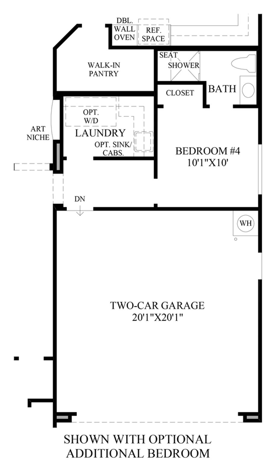 Optional Additional Bedroom Floor Plan