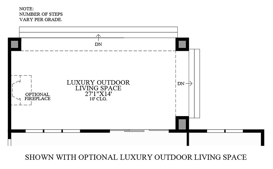Optional Luxury Outdoor Living Space Floor Plan