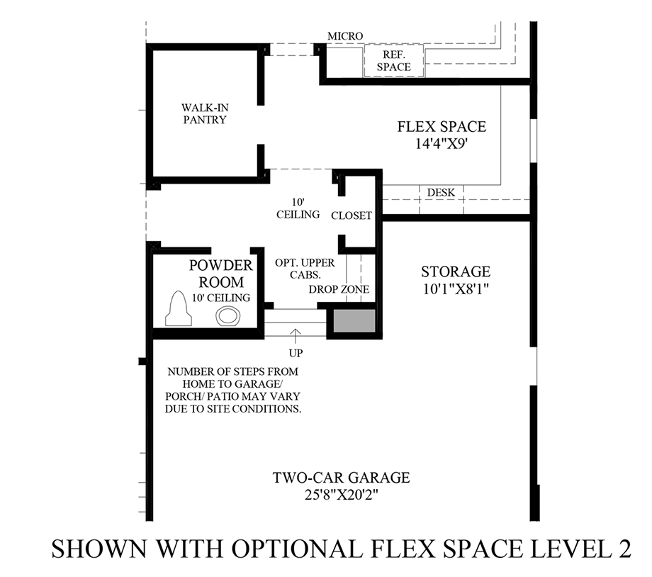 Optional Flex Space - Level 2 Floor Plan