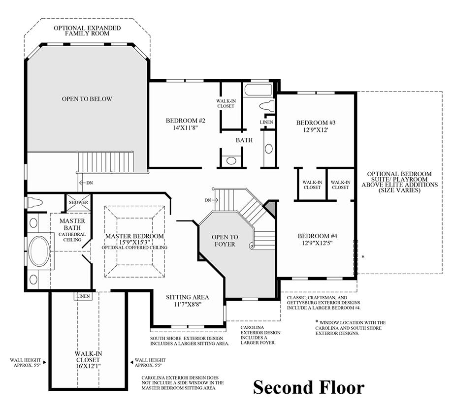 Greenville overlook the elkton home design for 2nd floor design