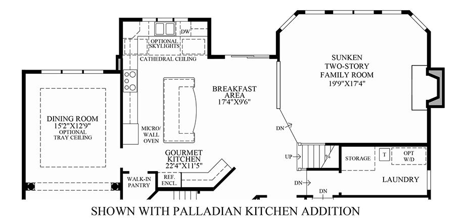 Weyhill estates at upper saucon the elkton home design for Design your own kitchen floor plan