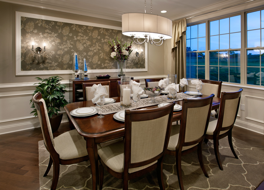 Highlands at holliston the elkton home design for Homes with beautiful dining rooms