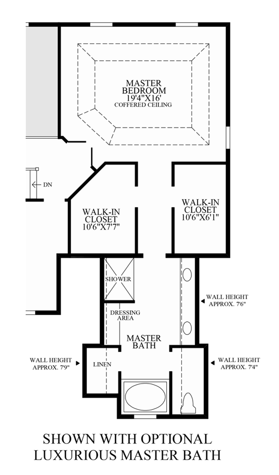 High pointe at st georges carolina collection the for Master bath and closet plans