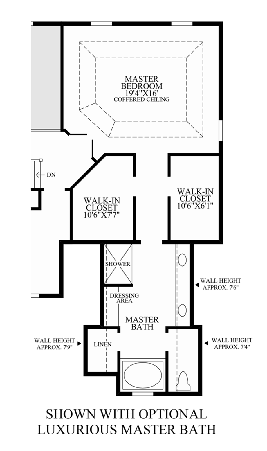 Glastonbury estates the ellsworth ii home design for Master bath floor plans