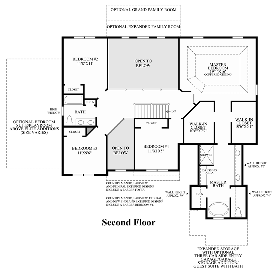 Summit estates at westchester the ellsworth ii home design for Summit homes floor plans