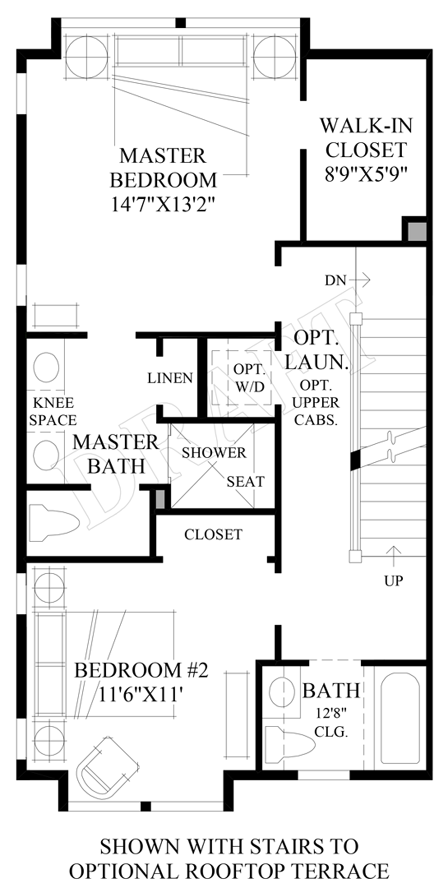 Optional Stairs to Rooftop Terrace Floor Plan